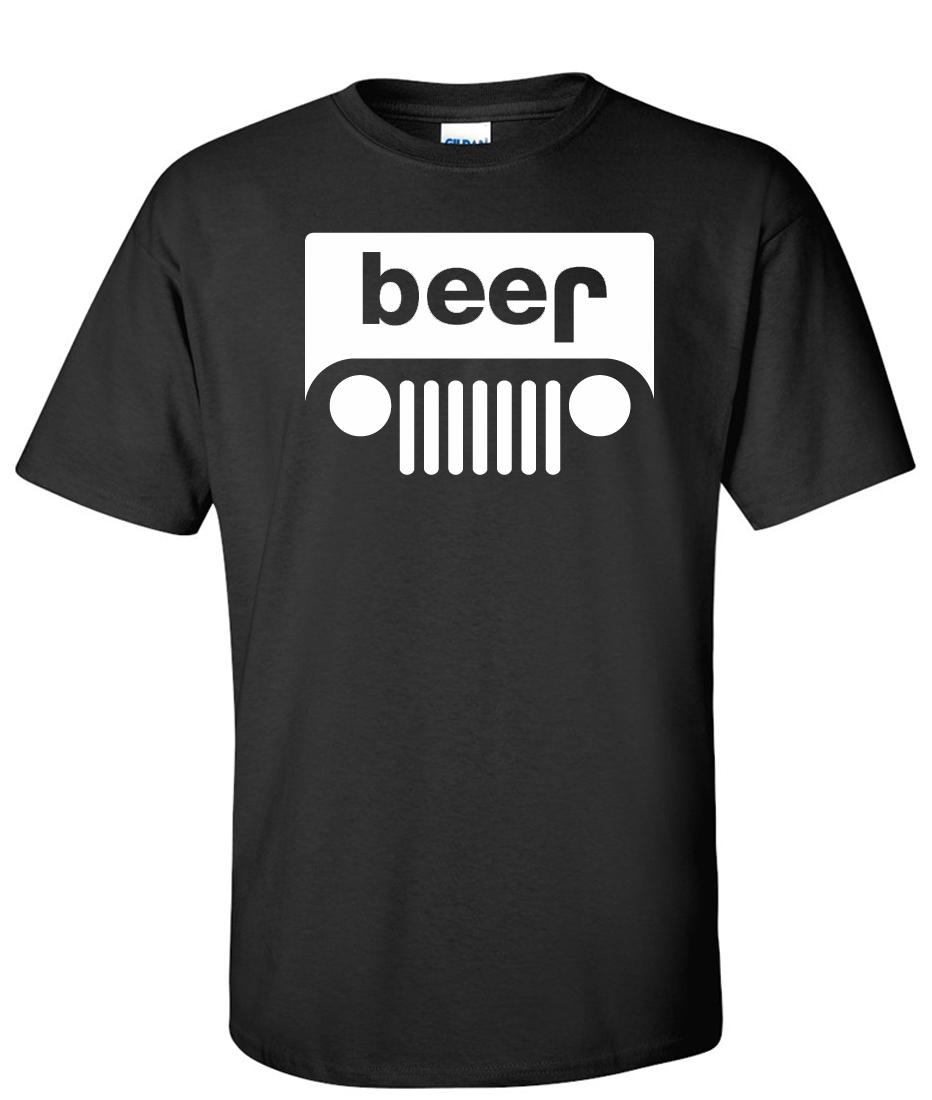 a57d4aebd Beer Jeep Logo Graphic T Shirt - Supergraphictees