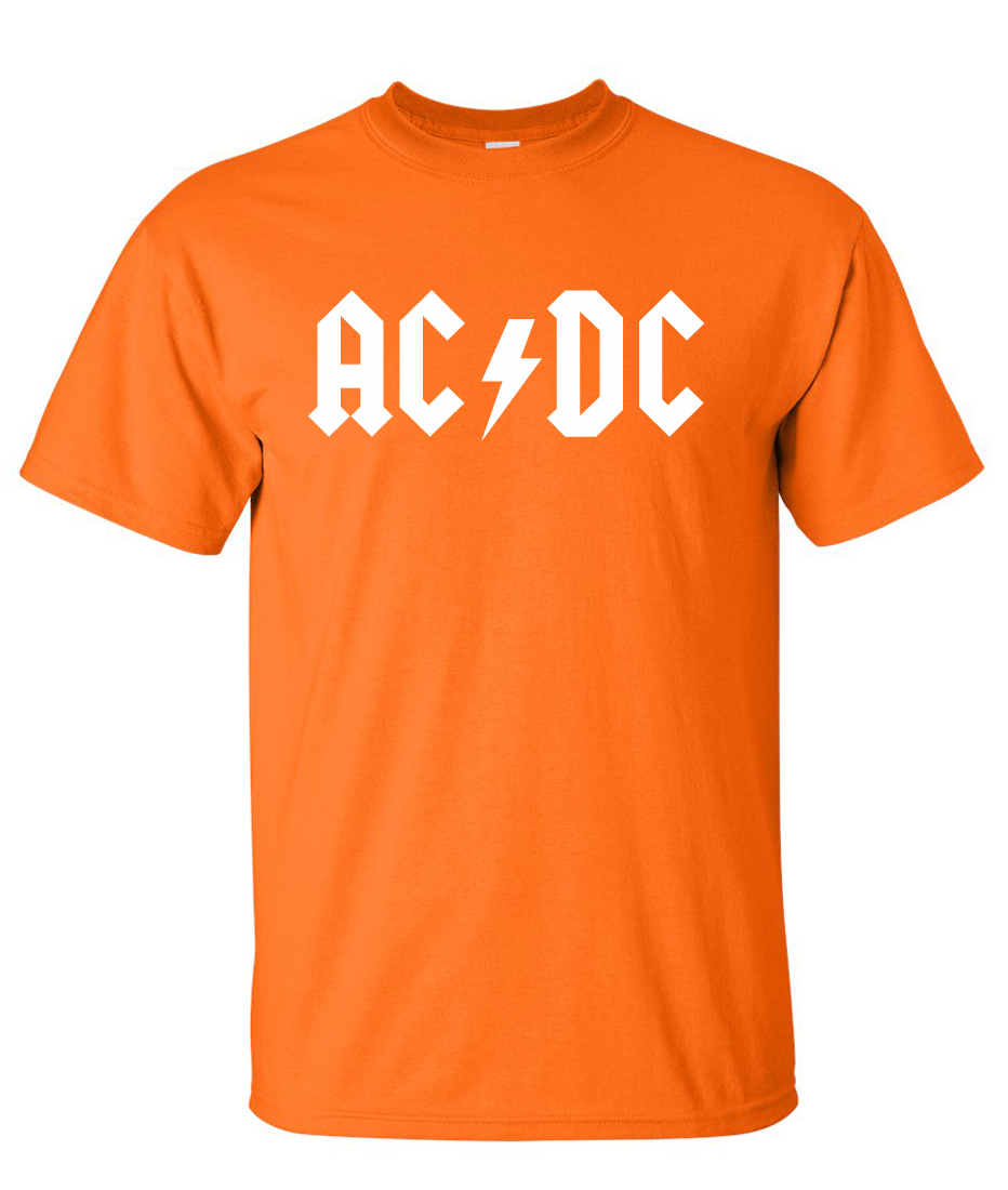 ac dc logo graphic t shirt supergraphictees. Black Bedroom Furniture Sets. Home Design Ideas