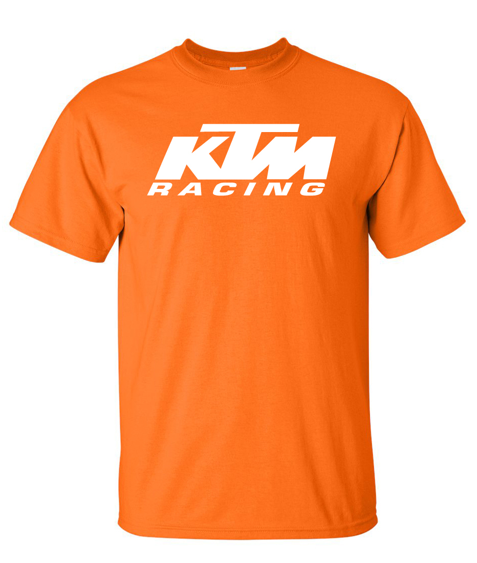 ktm racing logo graphic t shirt supergraphictees. Black Bedroom Furniture Sets. Home Design Ideas