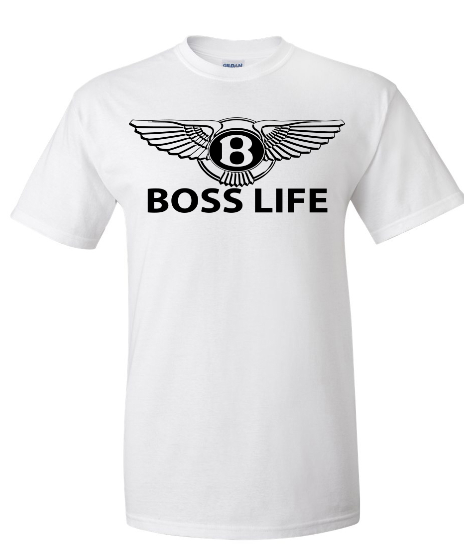 Boss Life Bently Logo Graphic T Shirt