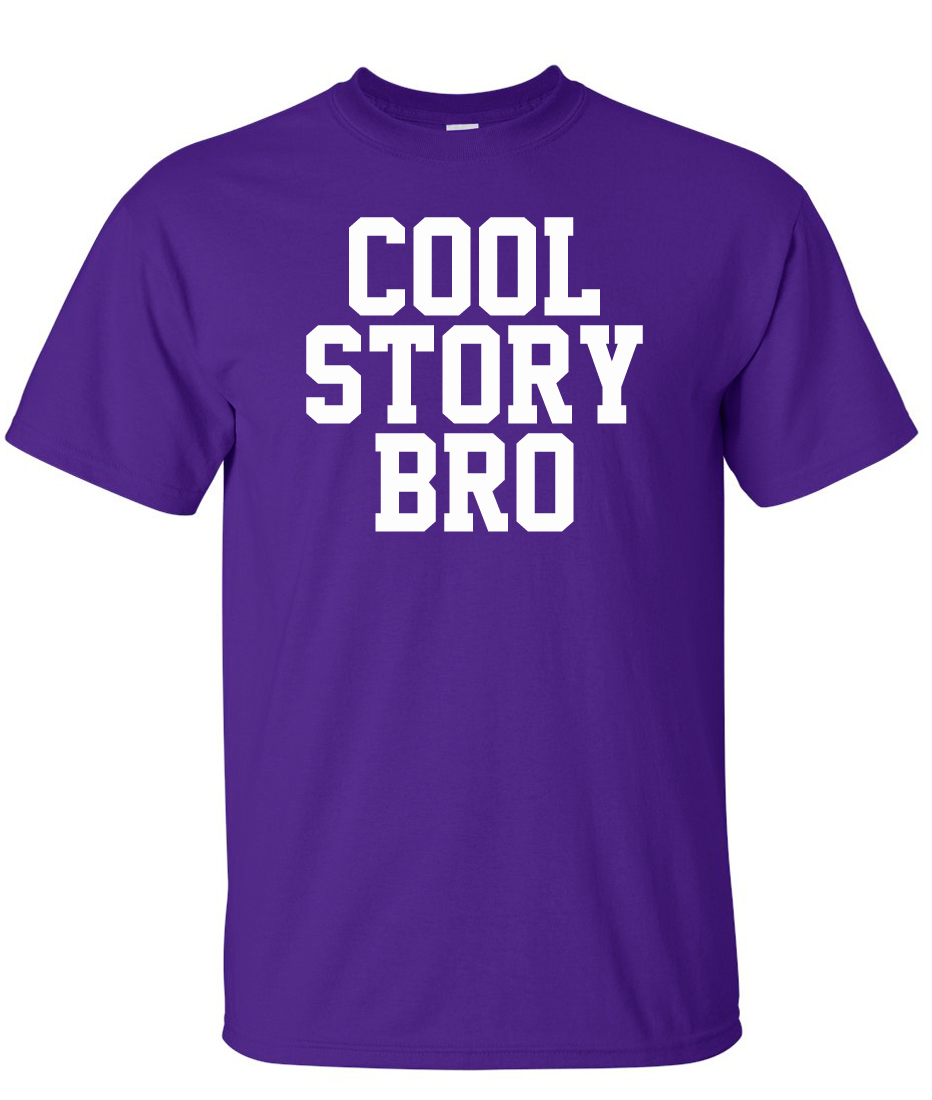 Cool Story Bro Funny Jersey Shore Logo Graphic T Shirt