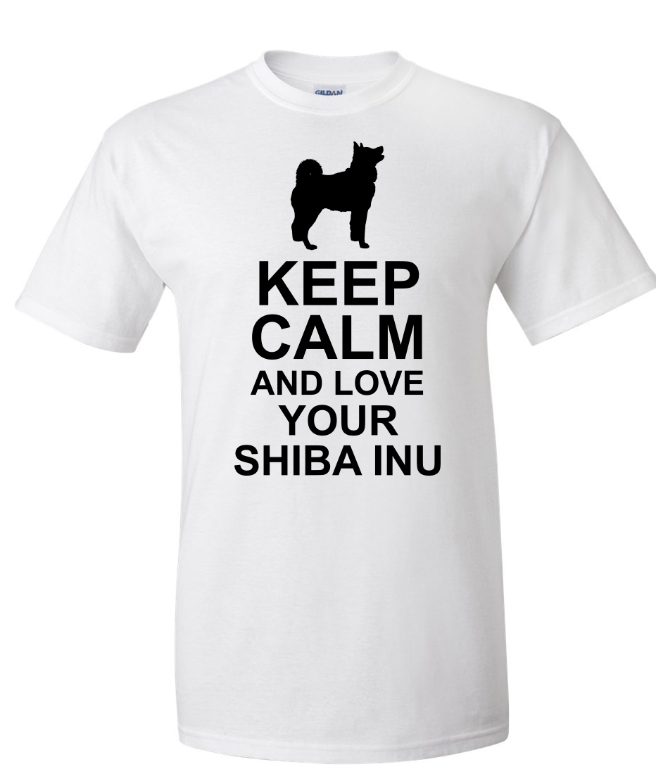 calm love shiba inu white
