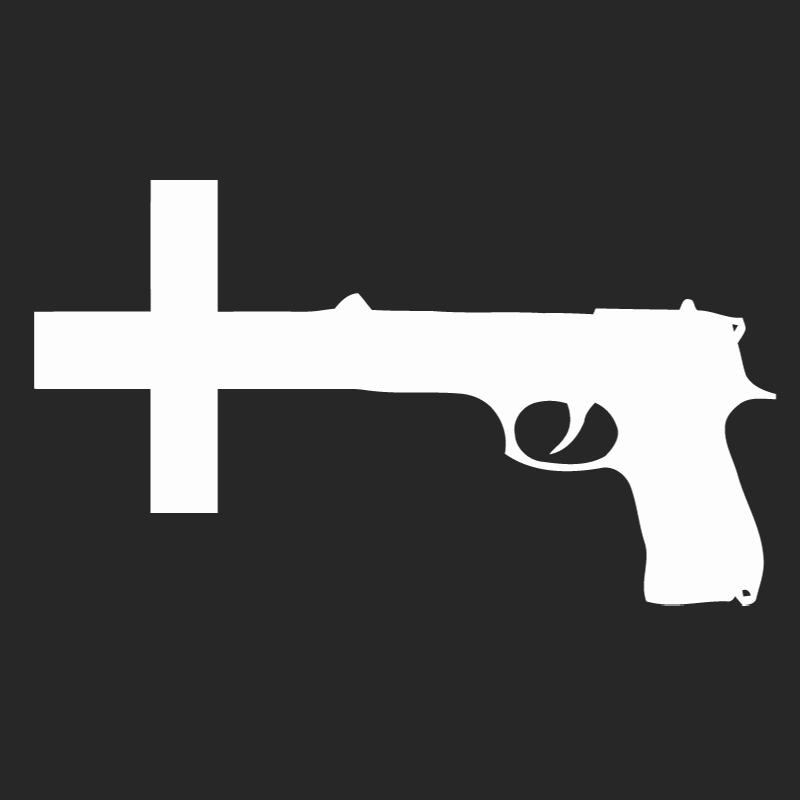 Guns Crossed Logo Gun Cross Nin Logo
