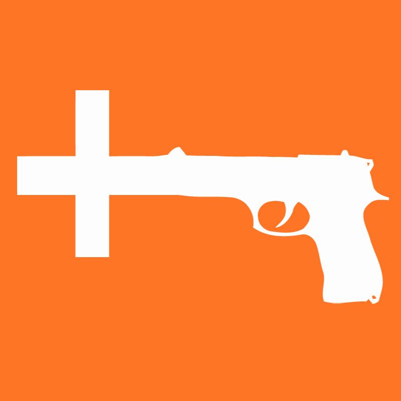 Guns Crossed Logo Nin Gun Cross Orange
