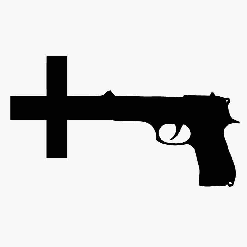 Guns Crossed Logo Nin Nine Inch Nails Gun Cross