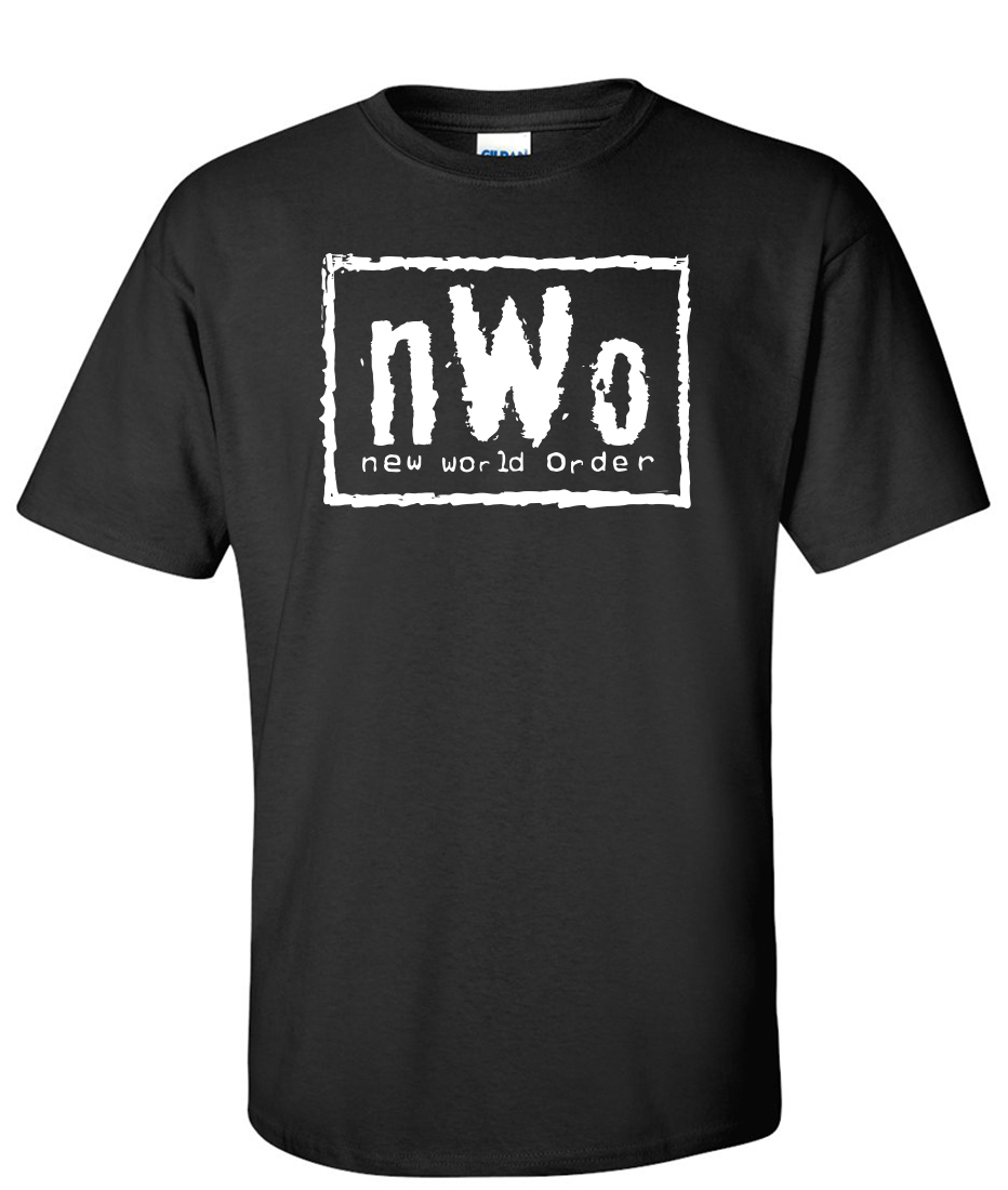 New world order nwo graphic t shirt for Where to order shirts with logos