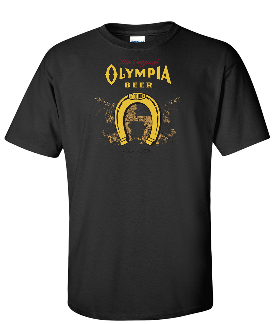 olympia beer logo graphic t shirt. Black Bedroom Furniture Sets. Home Design Ideas