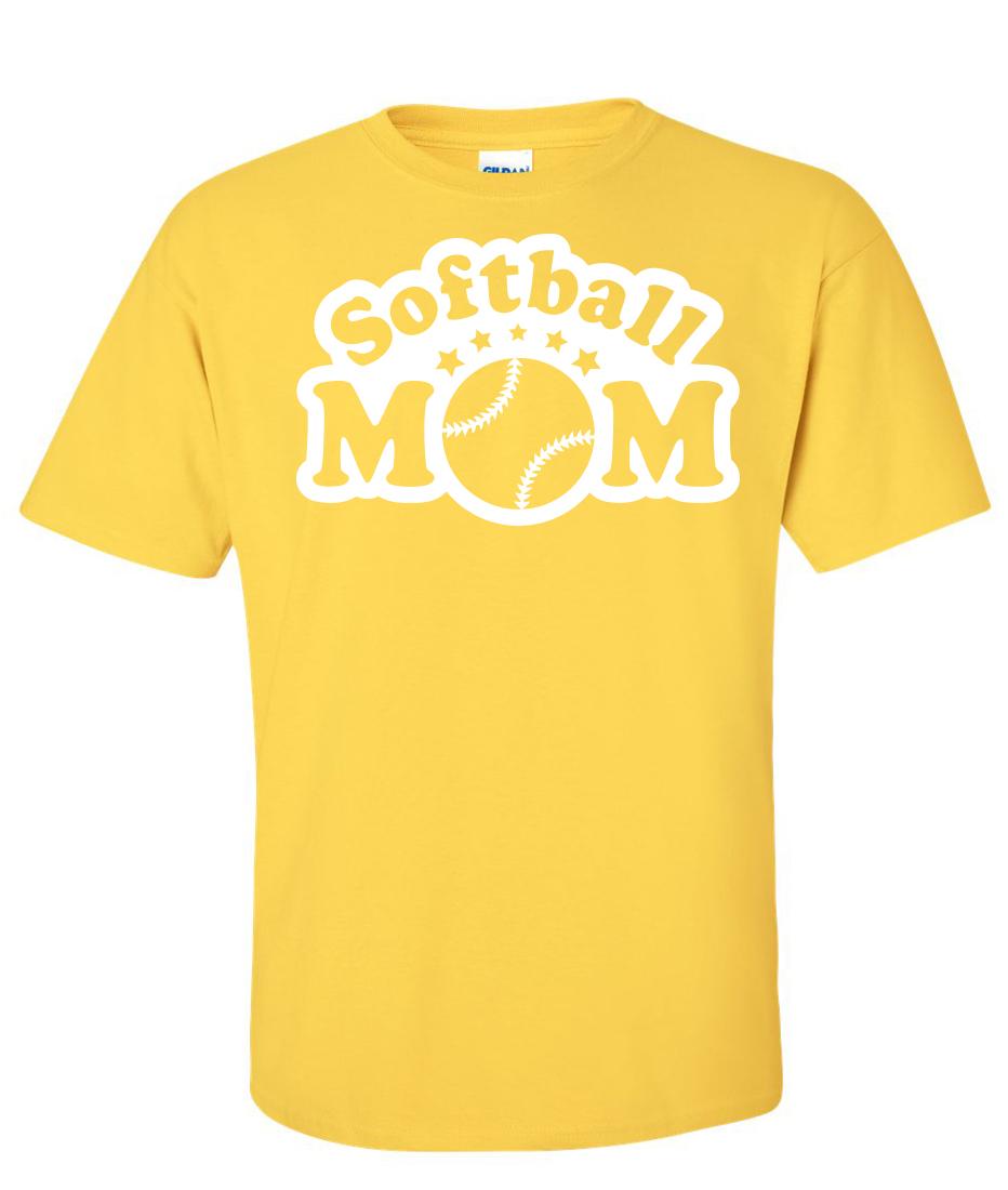 Yellow Softball Shirts Softball Mom Yellow