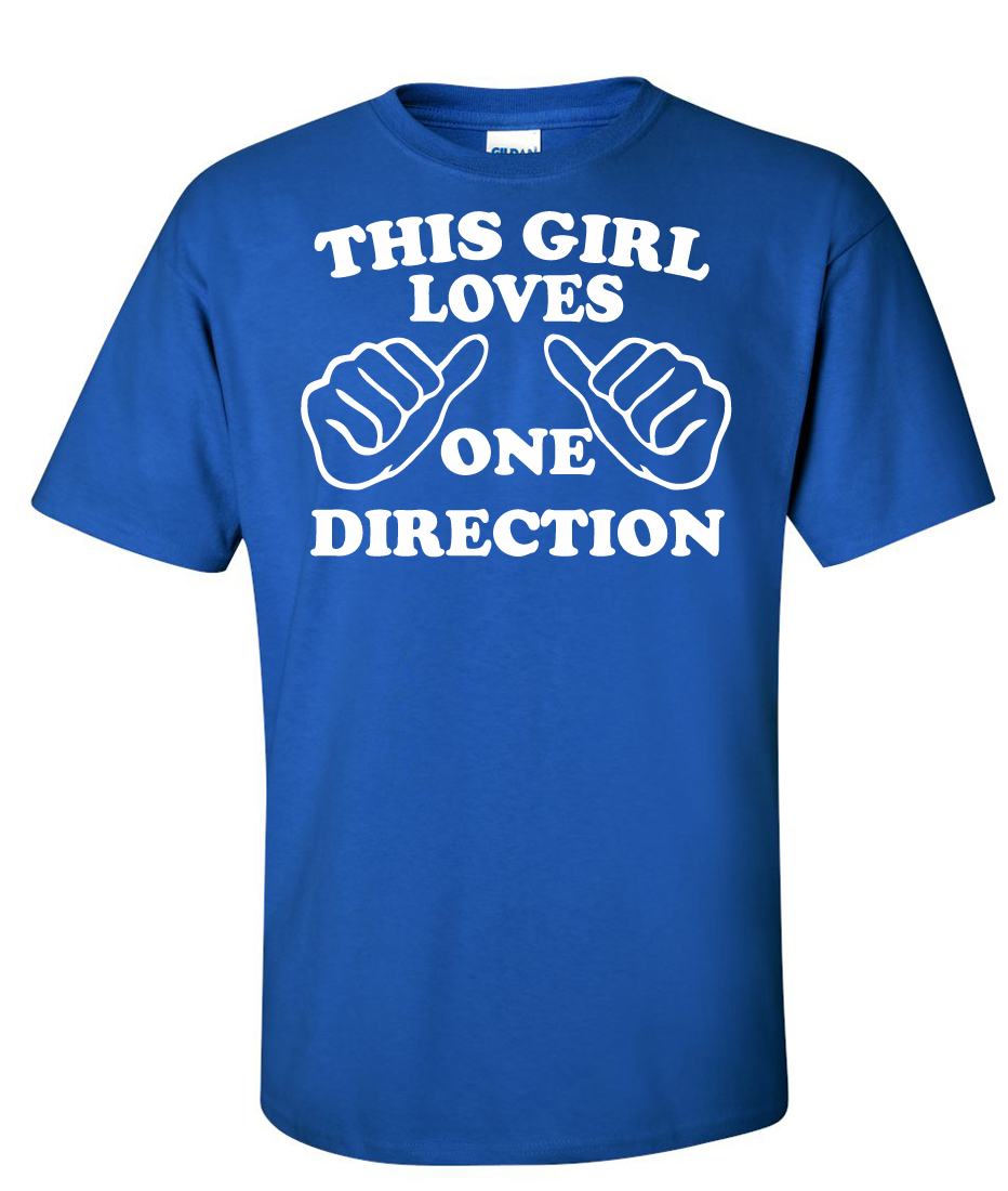 This girl loves one direction Band Logo Graphic T Shirt ...