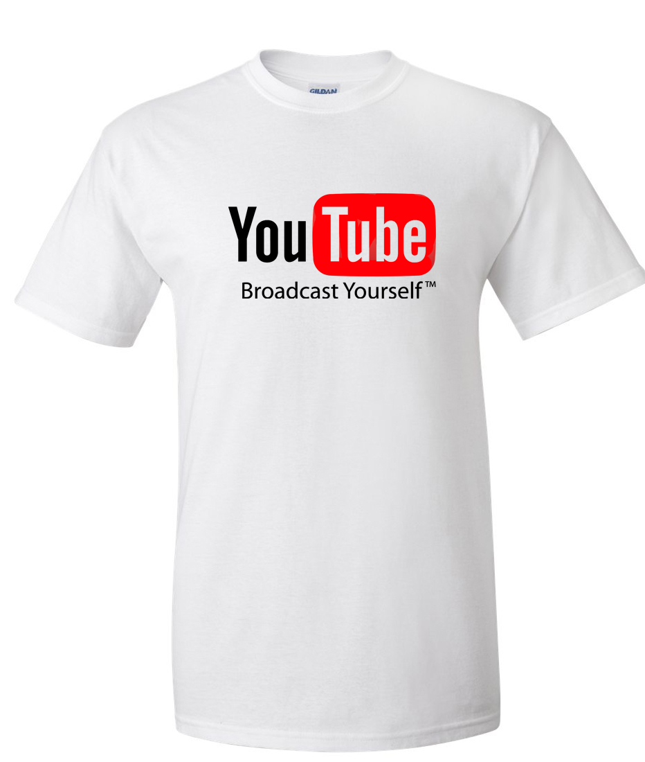 youtube broadcast yourself logo graphic t shirt supergraphictees. Black Bedroom Furniture Sets. Home Design Ideas